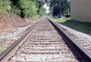 Vías de tren y perspectiva.