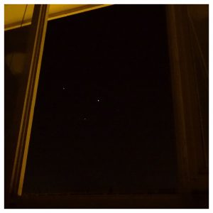 Privilegiada vista desde un ventanal de Iturrama